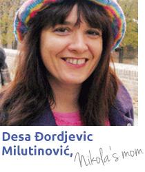 Desa Milutinović majka učenika Nikole Milutinovića